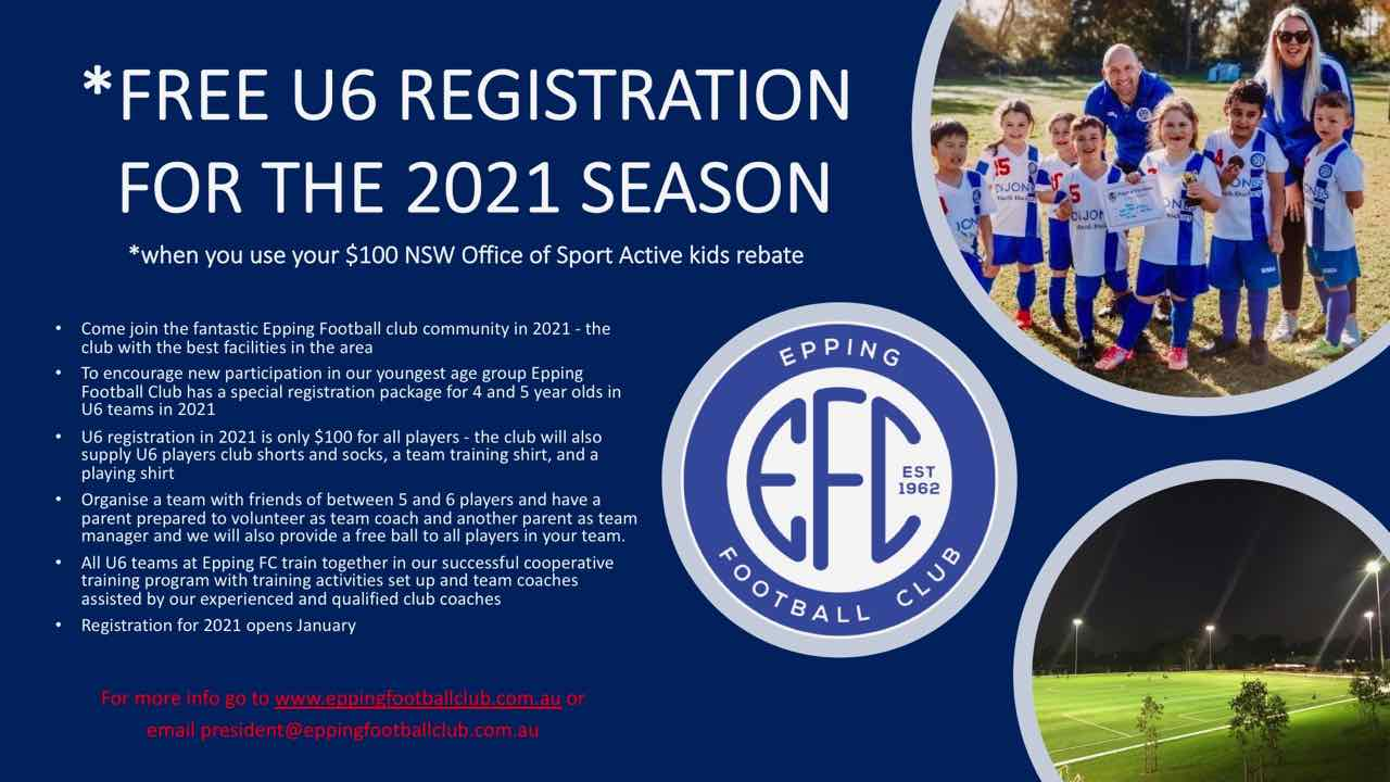 Epping FC U6 offer 2021 2